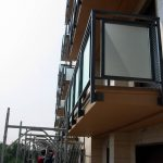 Nuovi Parapetti: struttura in scatolari di acciaio zincato - Viale Troya 18-22 Milano