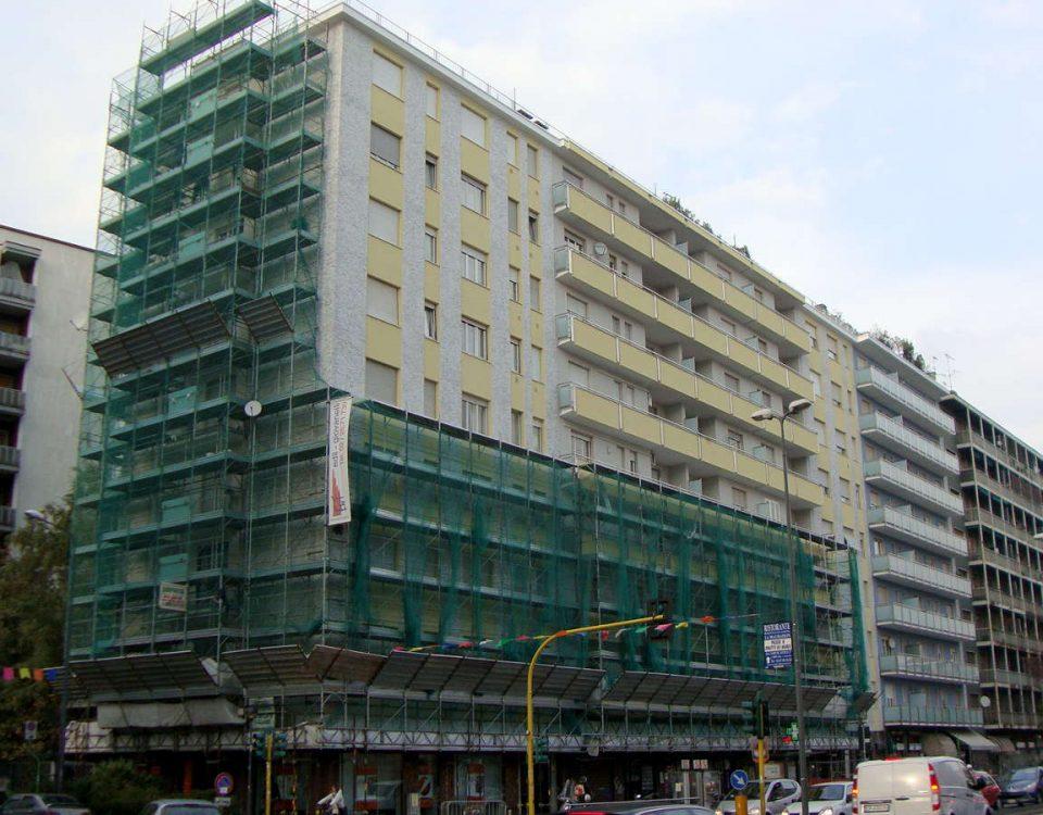 Riqualificazione Prospetti Facciata, Balconi e Canale Gronda - Via Gioia 135-137 Milano